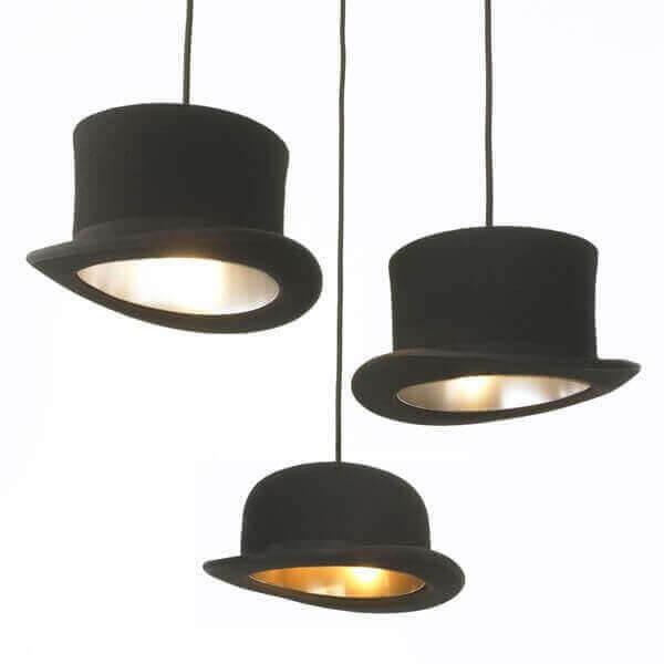 lustre chapeau claque vente suspension luminaire design lampe contemporaine sur mathi design. Black Bedroom Furniture Sets. Home Design Ideas