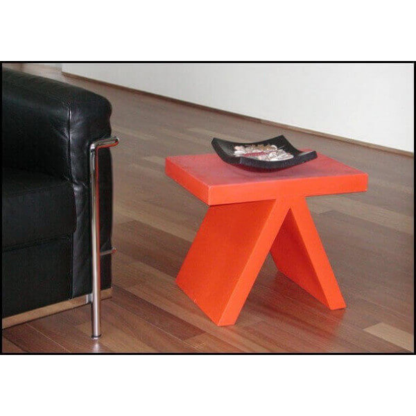Table d 39 ext rieur de jardin table en b ton bois pvc for Table d exterieur design