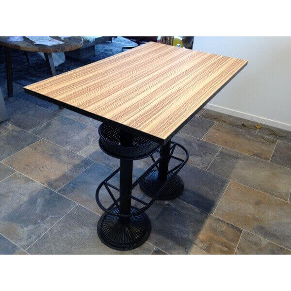 Table haute industrielle mange debout bistrot - Table haute industrielle bois ...