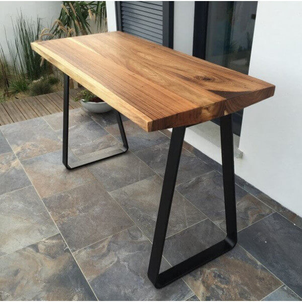 Table haute mange debout trianon for Table de bar bois