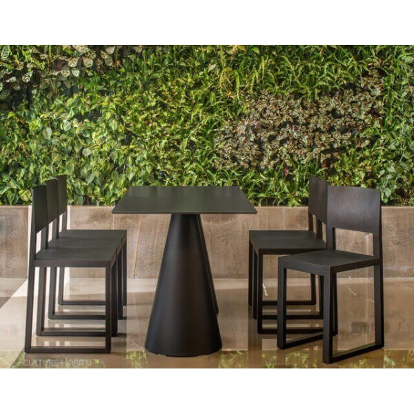 Table d 39 ext rieur de jardin table en b ton bois pvc for Table exterieur noire