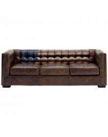 Canapé en cuir vieilli