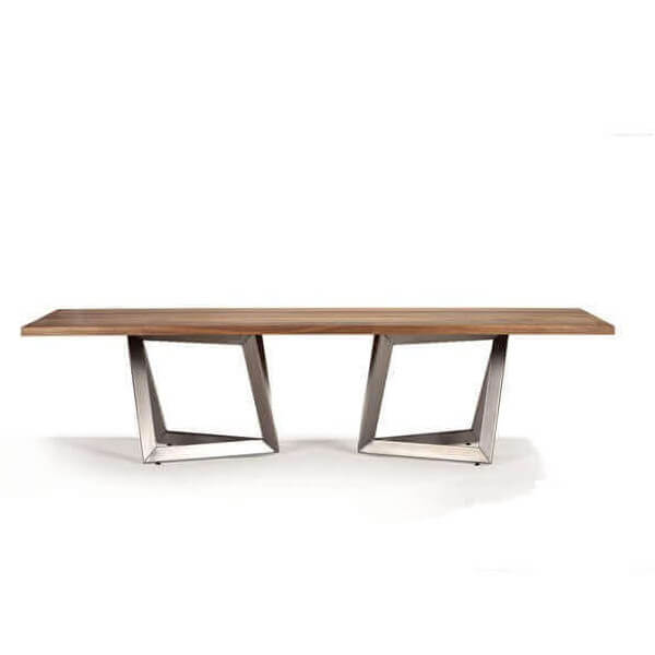 dining table origami wood stainless steel