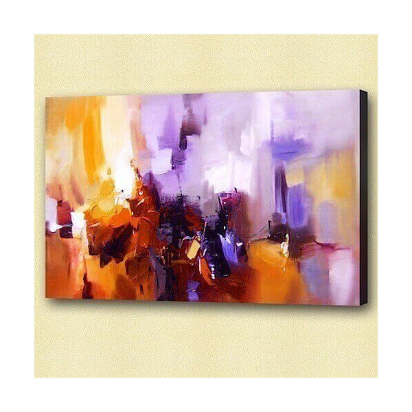 Purple abstract oil painting Jazzy