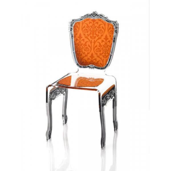 chaise baroque acrila mobilier en acrylique transparent haut de gamme. Black Bedroom Furniture Sets. Home Design Ideas