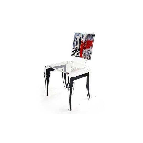 Chaise transparente Acrila Graph 2496