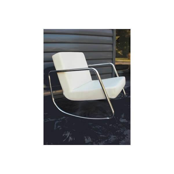 Rocking chair aspect cuir 3244