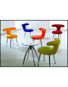 Chaise velours coloré Fifties