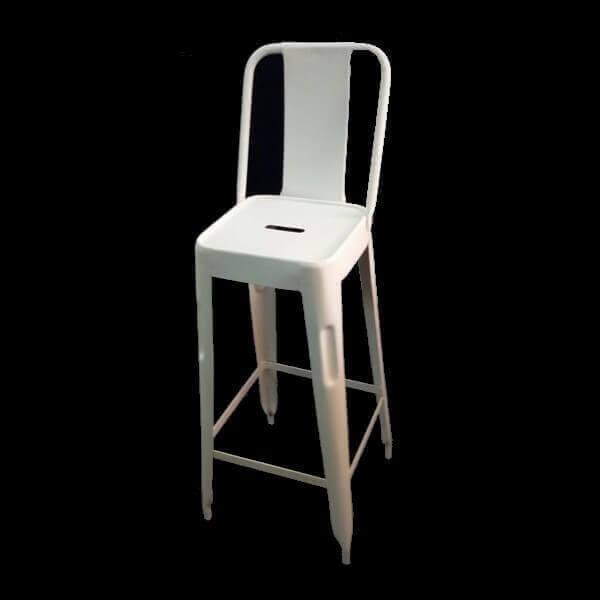 chaise haute acier industriel usine. Black Bedroom Furniture Sets. Home Design Ideas