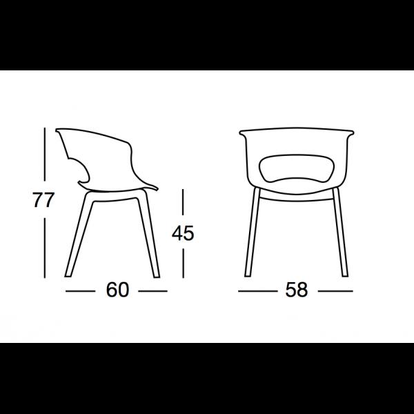 Chaise miss b - Chaise design polycarbonate transparent ...
