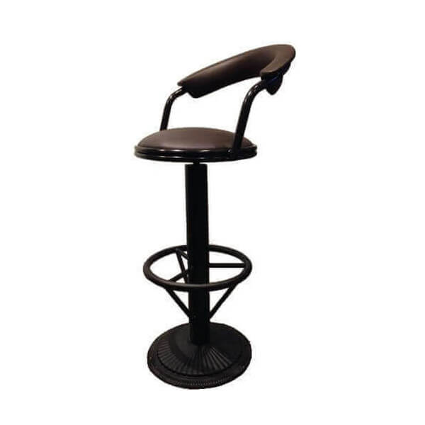 tabouret de bar reglable avec dossier maison design. Black Bedroom Furniture Sets. Home Design Ideas