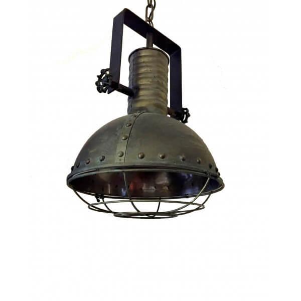Suspension industrielle en acier - Lustre loft industriel ...