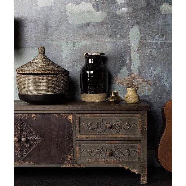 tv cabinet in vintage industrial style. Black Bedroom Furniture Sets. Home Design Ideas