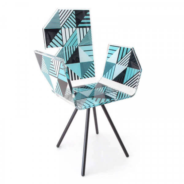 Transparent Graphic Design Polygone Chair Of The Brand Acrila