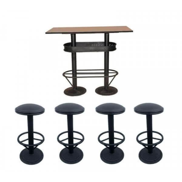 Ensemble table et tabourets 4943