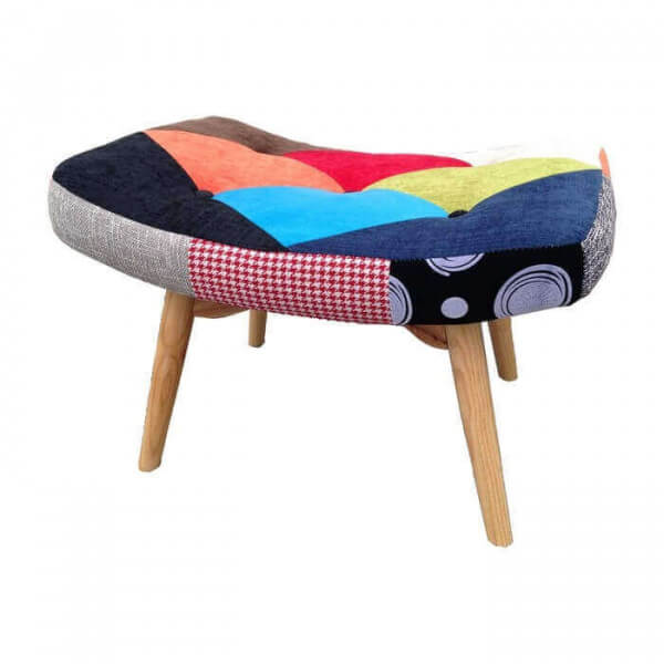 repose pieds java patchwork style scandinave meuble de style nordique color. Black Bedroom Furniture Sets. Home Design Ideas