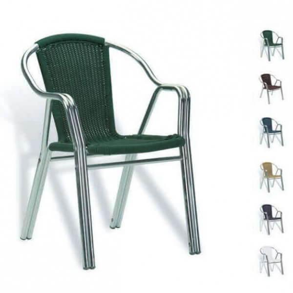 Chaise terrasso pour cafe et bistro for Sillas jardin aluminio baratas