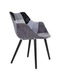 Chaise Patchwork gris et noir