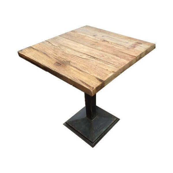 Side table bistro restaurant - Table haute industrielle bois ...