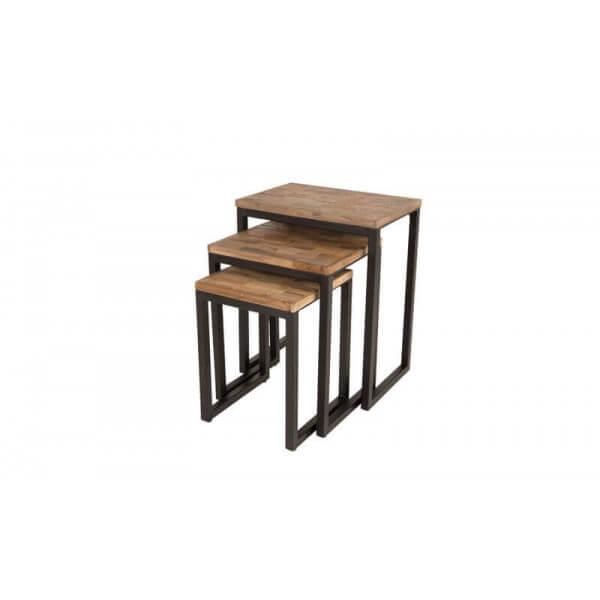 Tables gigognes bois acier - Table bois acier design ...