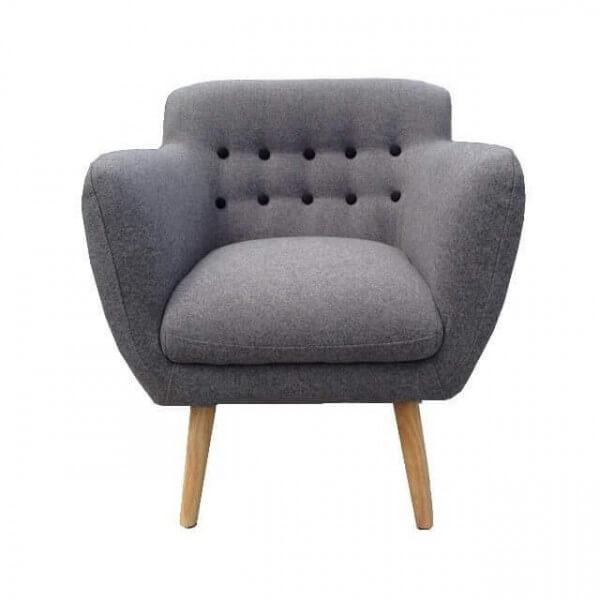 fauteuil scandinave gris