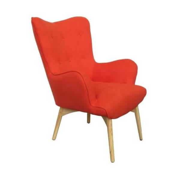 Orange Armchair Scandinavian Style