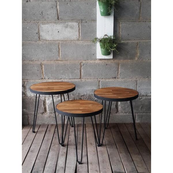 Tables basses de salon design b ton acier bois mathi design - Table bois acier ...