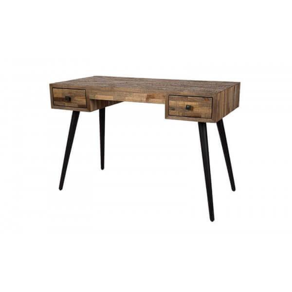 bureau bois vintage. Black Bedroom Furniture Sets. Home Design Ideas
