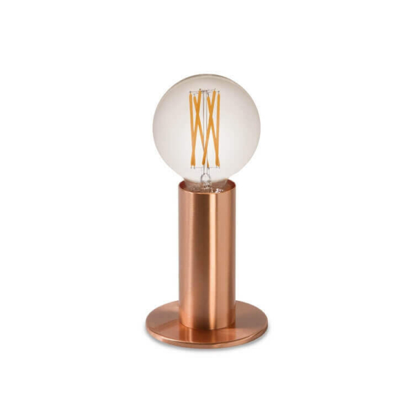 Lampe tactile design finition cuivre or ou noir - Lampe a poser tactile ...