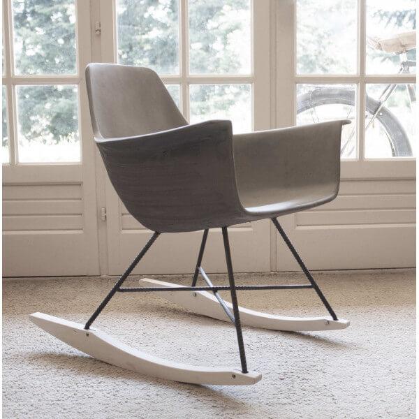 Rocking chair Béton