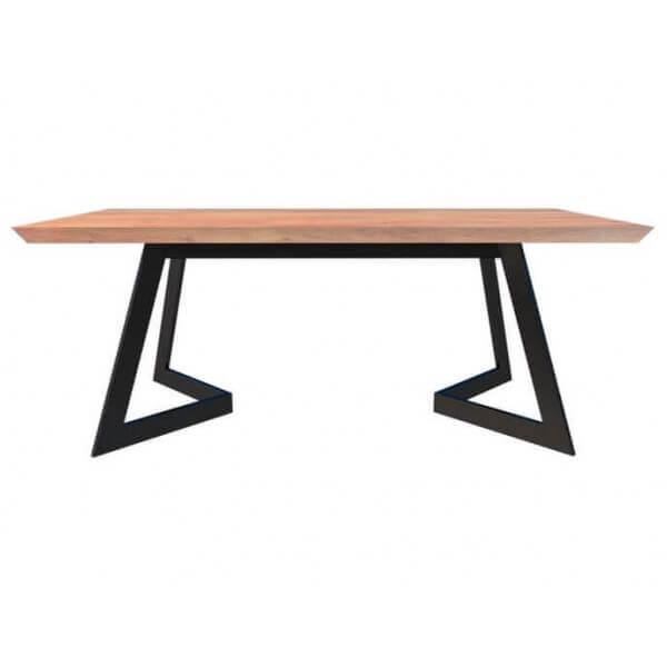 Table repas 160 design bois acier