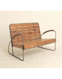 Banc vintage bois et metal
