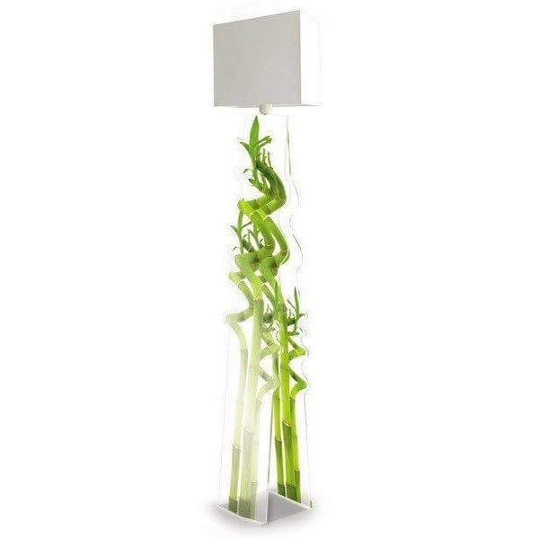 lampadaire design bambou acrila luminaire acrylique en. Black Bedroom Furniture Sets. Home Design Ideas