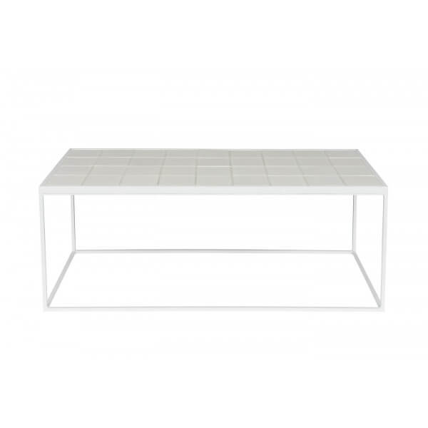 White Low table Glazed Zuiver