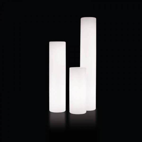Luminous outdoor tube