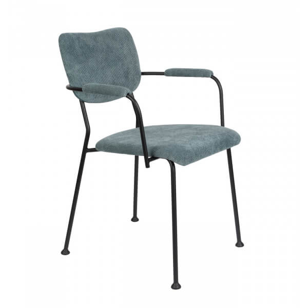 Chaise velours benson zuiver grise