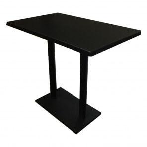 Table haute Blackus noire