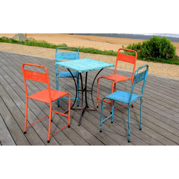 Colored Indonesian chairs