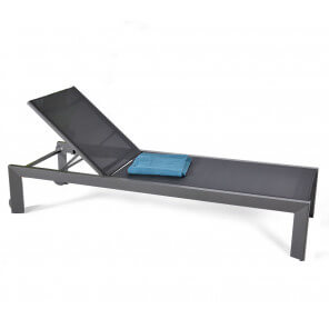 Chaise Longue design grise Miami
