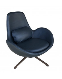 Simili leather design armchair