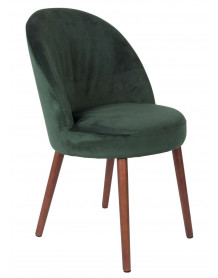 Green Velvet dining chair Barbara