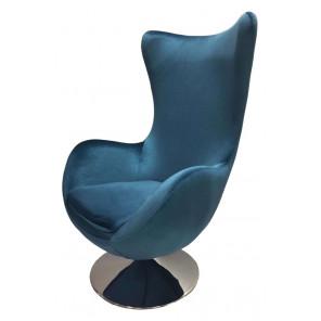 Fauteuil Suede bleu nacré