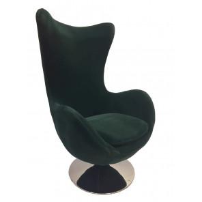 Dark green armchair Suede