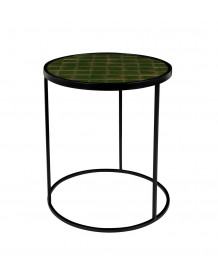 Green Glazed Side Table