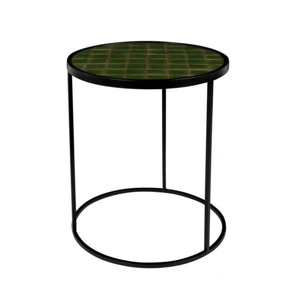 Table ronde Glazed verte