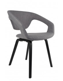 Chaise Flexback Grise zuiver