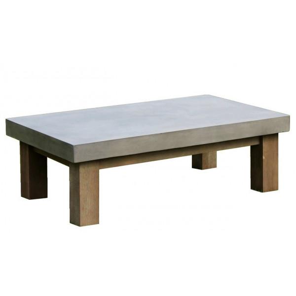 Table basse béton rectangle