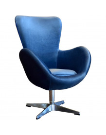 blue velvet design armchair
