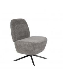 DUSK - Fauteuil Lounge gris clair