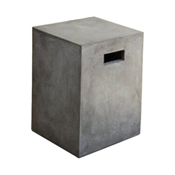 BETON - Grey Square concrete stool